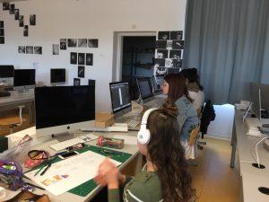 photo étudiants BTS DG 2 projets de synthèse