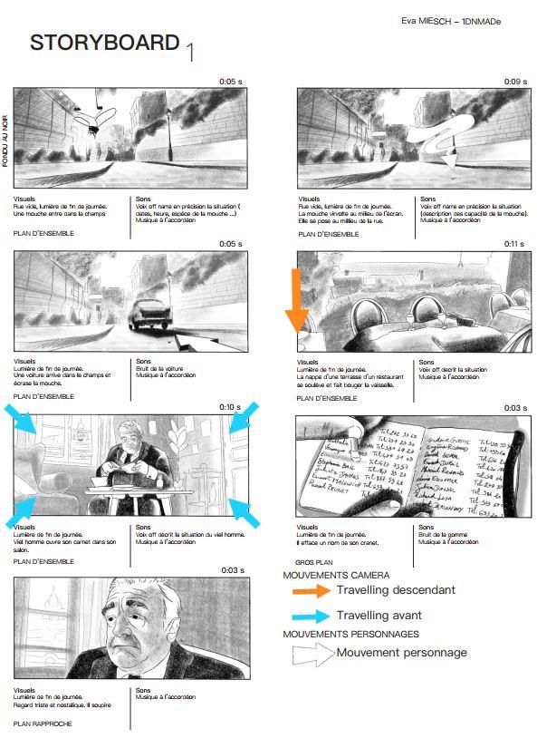Storyboard Amélie Poulain